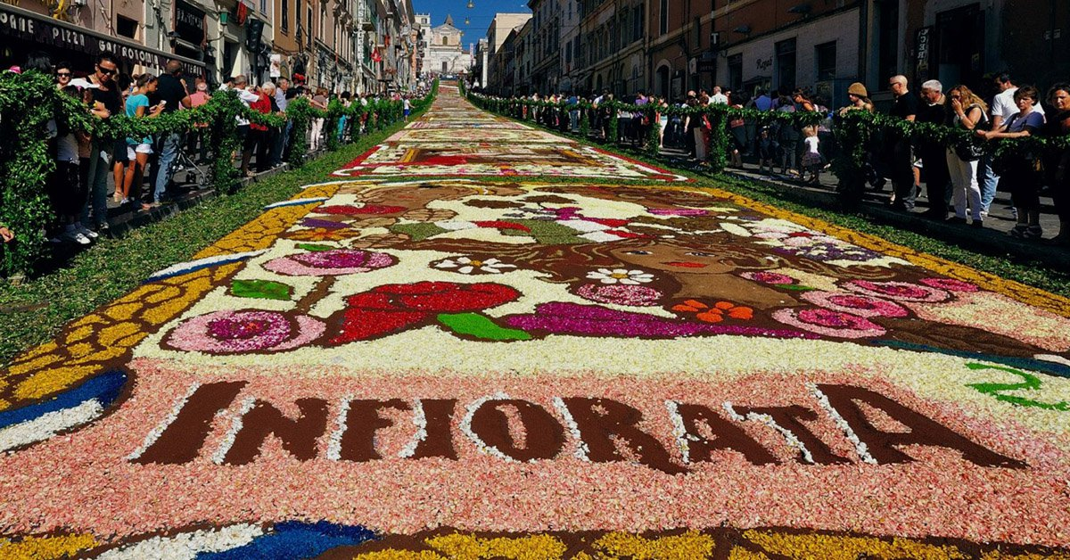 The 40th edition of the Infiorata festival in Noto