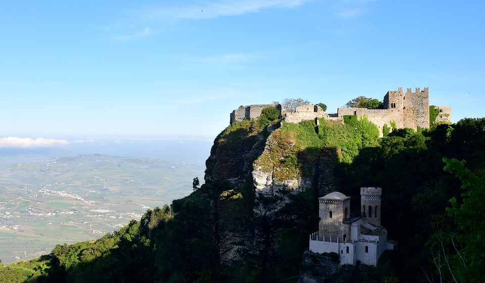 Erice seen from the sky