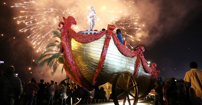 Le chariot triomphal dédié à Santa Rosalia