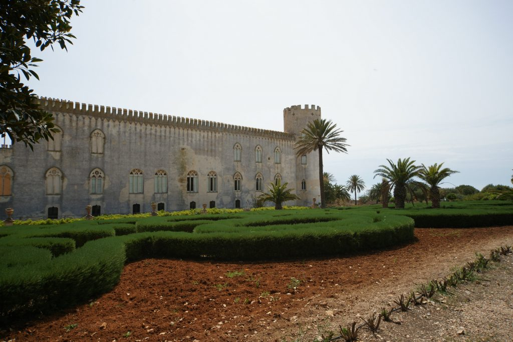 Castle in Donnafugata with its garden