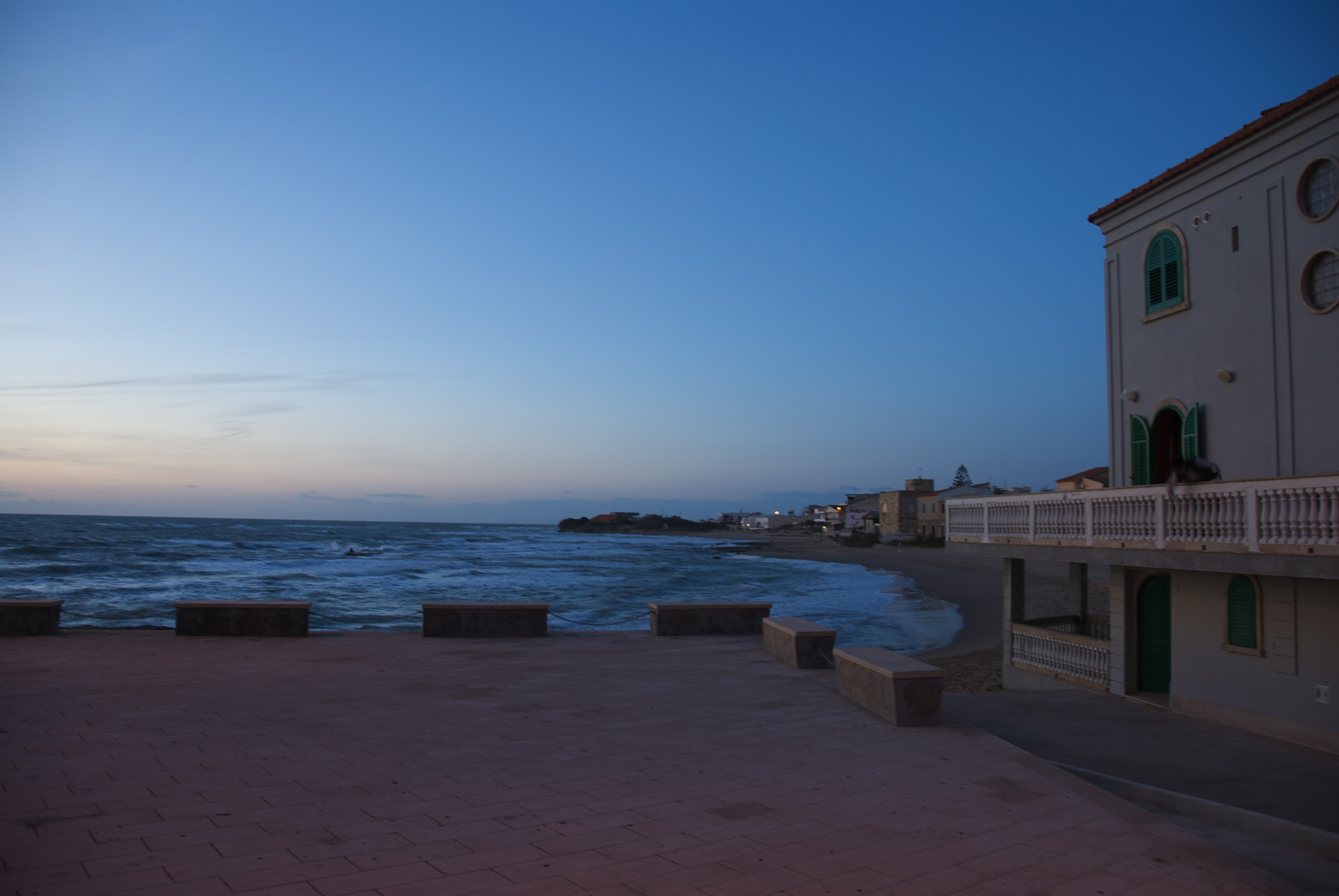 Montalbano and his house in Punta Secca