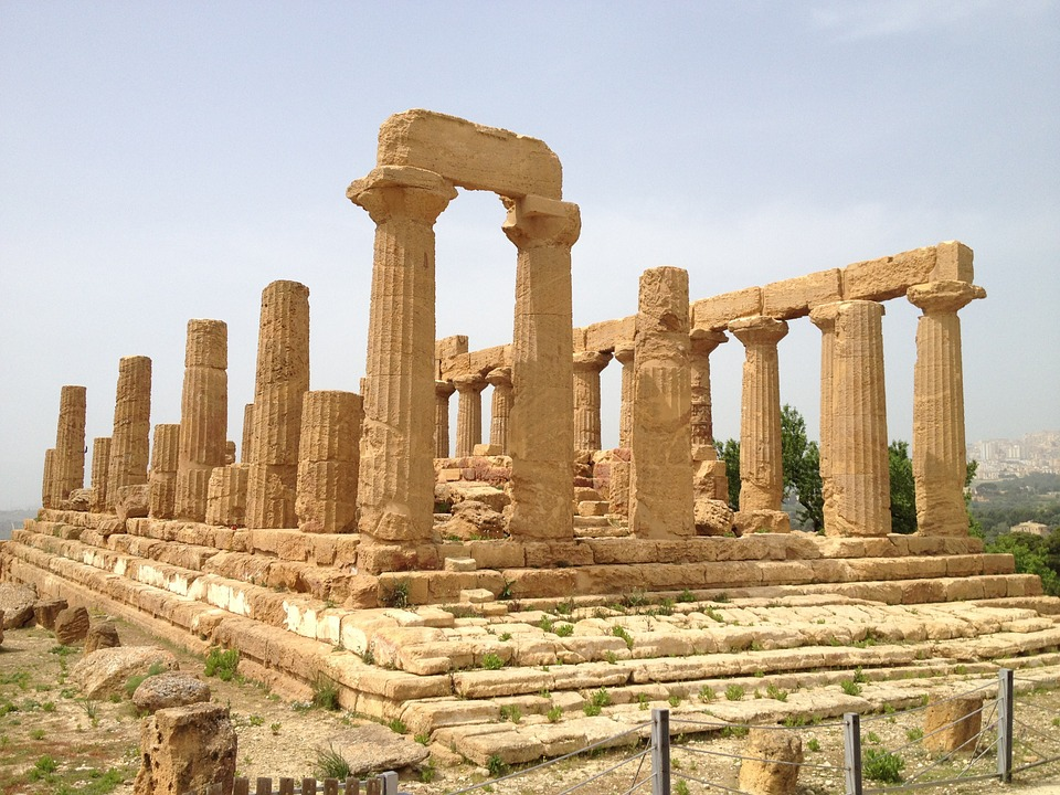 A Temple in the Valley of the Temples of Agrigento